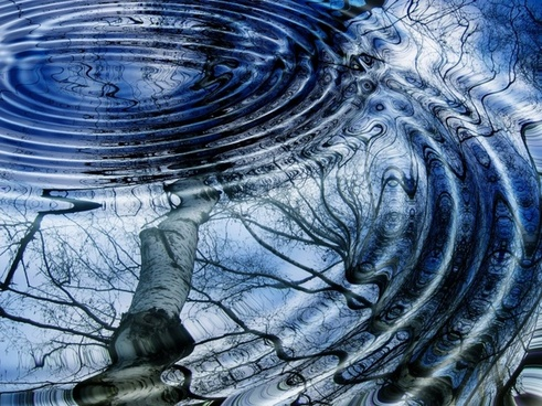 rings mirroring water