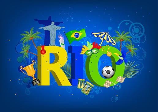 rio 2016 olympic games banner poster template