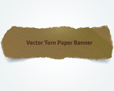 ripped parchment banner vector graphics