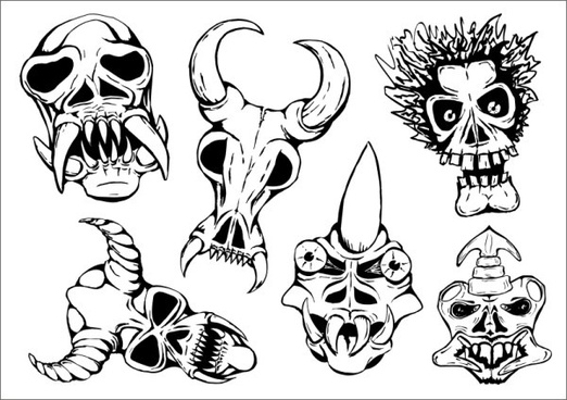 ritual masks vector