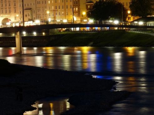 river bridge night photograph