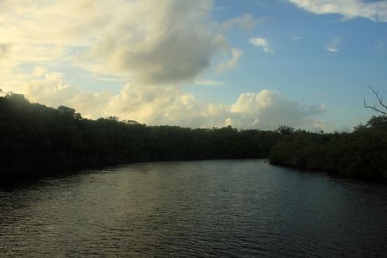 river channel at everglades national park florida