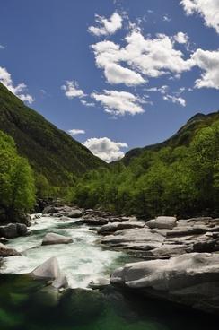 river mountains alpine