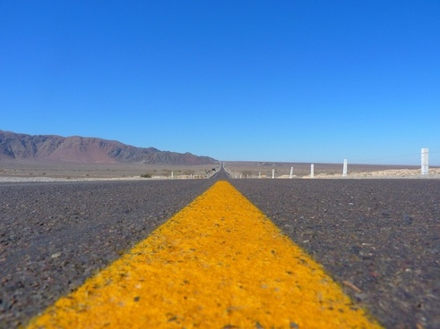 road asphalt away