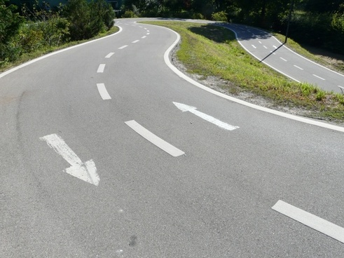 road lane traces