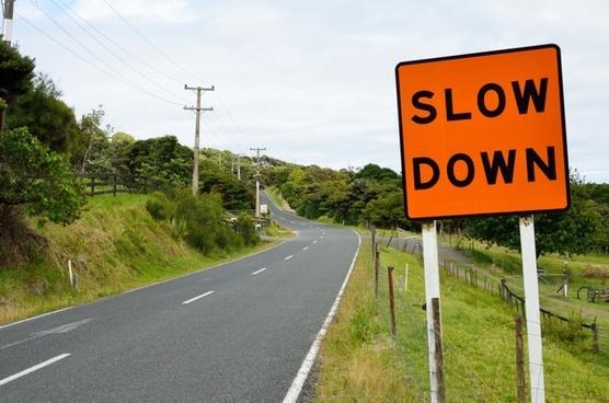 road sign asphalt