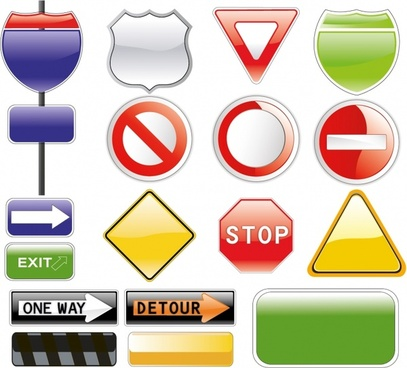 Highway Exit Sign Template Sign free vector downl...