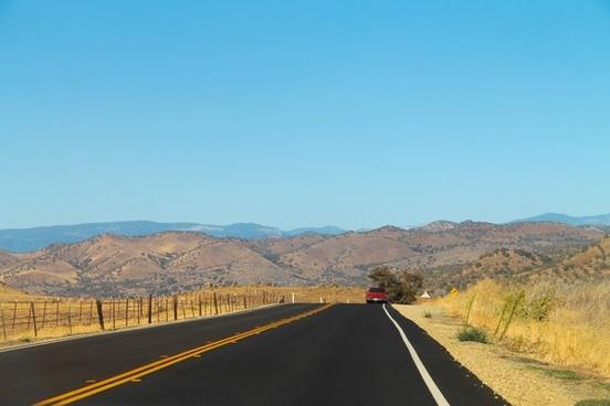 road through dry hills