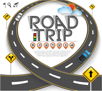 road traffic schematic vector template free vector in encapsulated