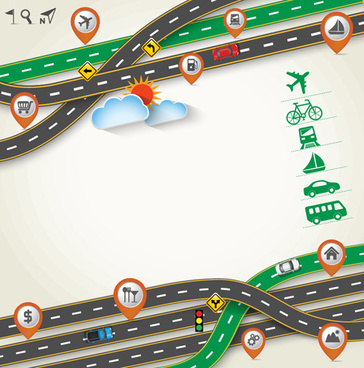 road traffic schematic vector template