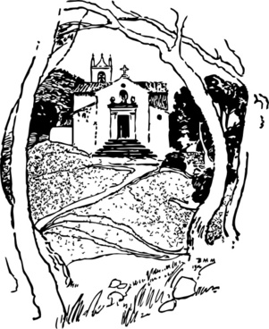 Roadside Chapel St Pierre clip art