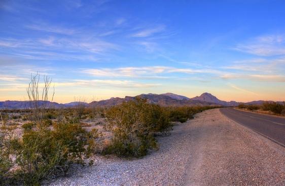 roadside dusk at big bend national park texas