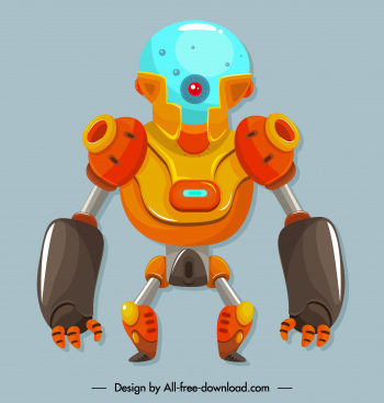 robot icon frightening appearance contemporary design
