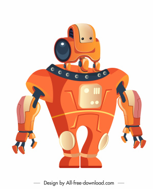 robot icon modern humanoid design