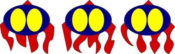 Robot Octopus Icon clip art