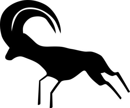 Rock Art Saharan Antelope