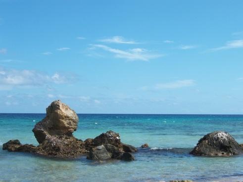 rock beach sea