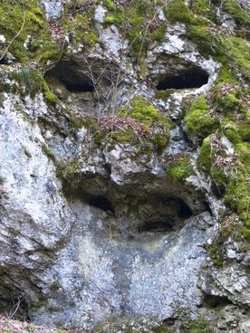 rock cave face