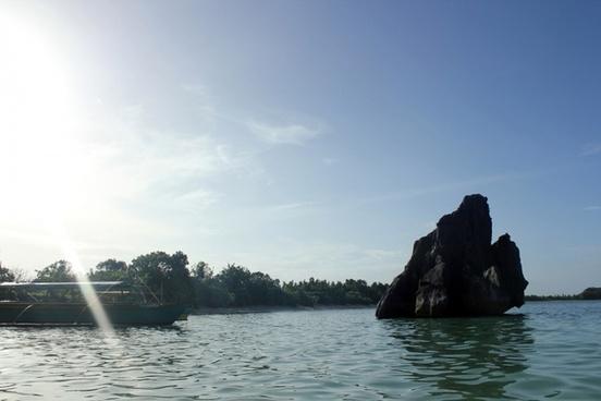 rock stone in the sea