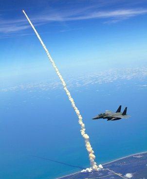rocket launch space shuttle atlantis