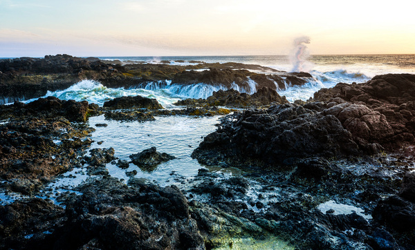 rocks at sunset