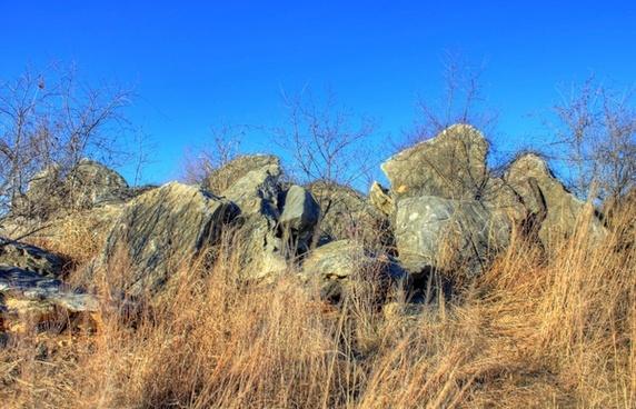 rocks at weldon springs state natural area missouri