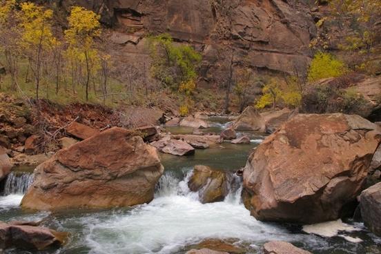 rocks river landscape