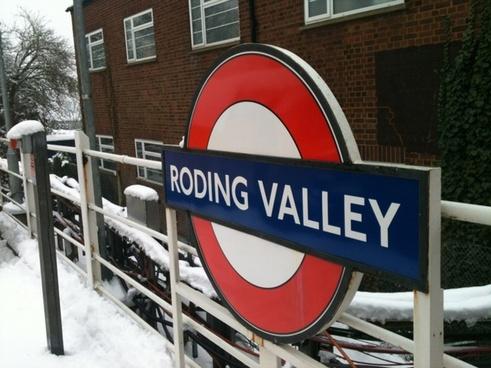 roding valley underground sign