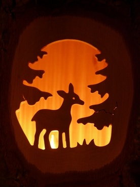 roe deer forest carving
