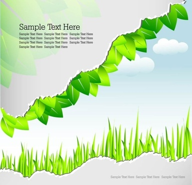 roll angle and leaves 04 vector