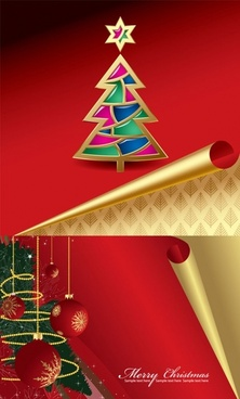 roll angle of the christmas card vector