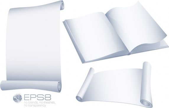 page templates shiny blank white 3d shapes