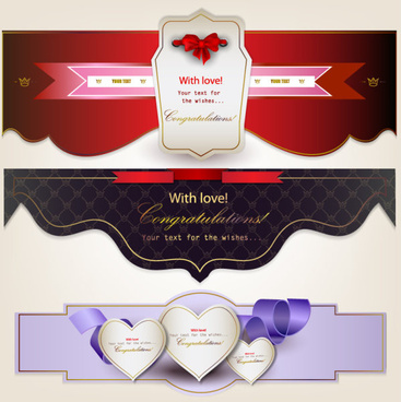 romantic and love banner vector