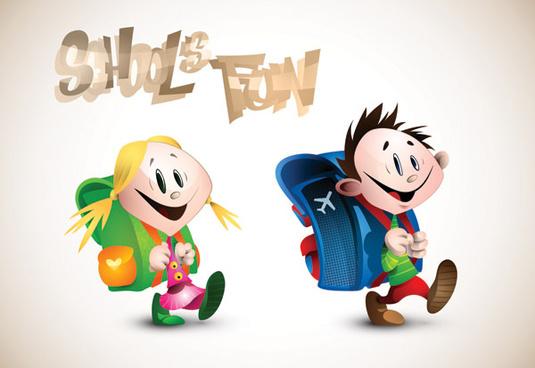 romantic cartoon characters design vector