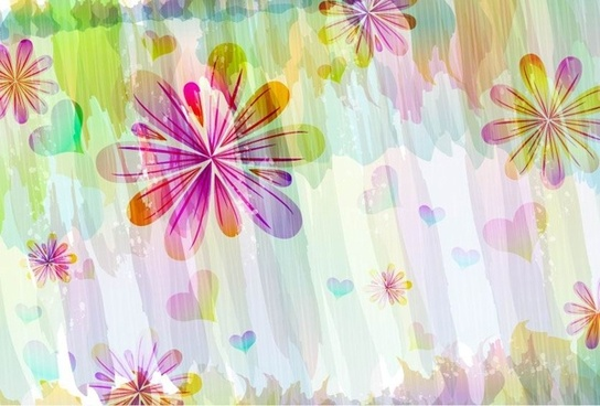 romantic floral pattern background vector design 1