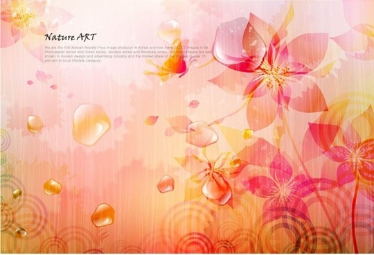 romantic floral pattern background vector design 4