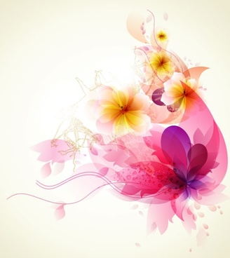 romantic flower background free vector download 53 867 free vector