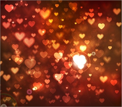 romantic glow red background vector