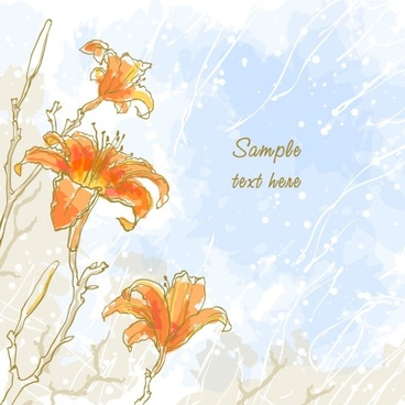 romantic handpainted background 04 vector