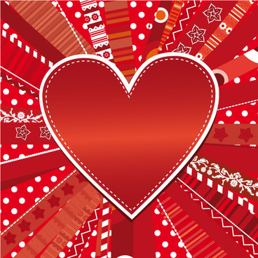 romantic heart greeting cards background vector set