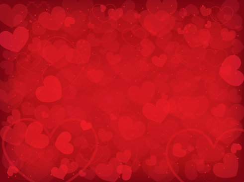 romantic heart valentine background free vector