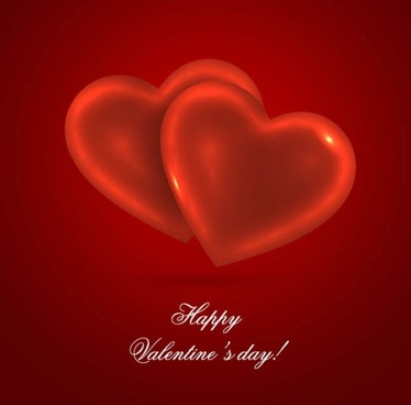 romantic heartshaped background 01 vector