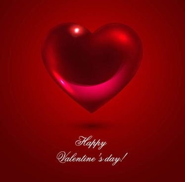 romantic heartshaped background 02 vector