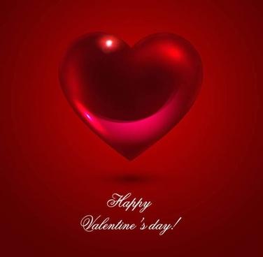 romantic heartshaped background 02 vector