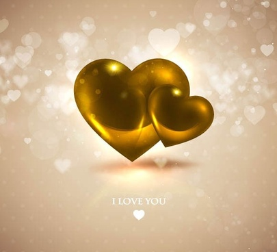 romantic heartshaped background 06 vector