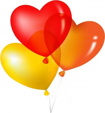 love background shiny modern colorful heart balloon sketch