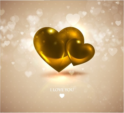 romantic heartshaped love background vector