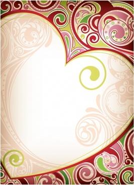 romantic heartshaped pattern vector