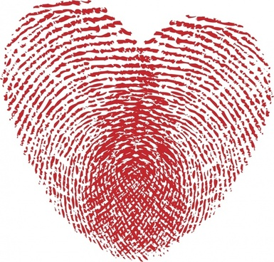 romantic heartshaped pattern vector handprint