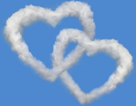 romantic heartshaped white clouds highdefinition picture 01